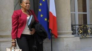 French Justice Minister Christiane Taubira visits the Elysée presidential palace