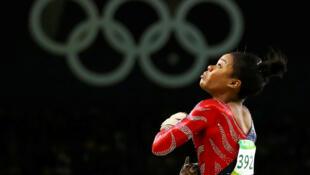 A ginasta americana Gabby Douglas, na Olímpiada do Rio (7/8/16), foi vítima de abuso.