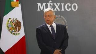 El presidente de Mexico, Andrés Manuel López Obrador, durante un acto oficial el 14 de febrero de 2020.