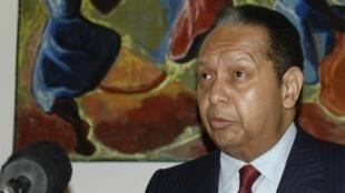 Jean-Claude Duvalier, en conférence de presse à Port-au-Prince, le 21 janvier 2011.