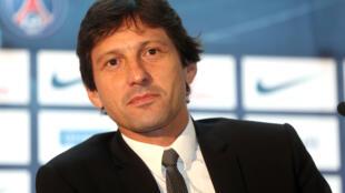 O brasileiro Leonardo, diretor técnico do Paris Saint-Germain.