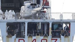 Migrants arrive in Sicily last week on an Italian patrol boat