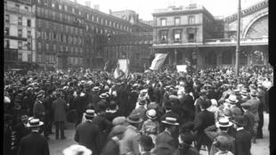 Gare de l'Est à Paris, le 2 août 1914.