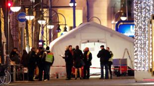 Feira de Natal em Berlim onde aconteceu o atentado