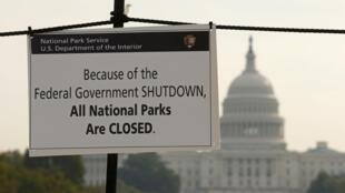 Todos los parques nacionales están cerrados.