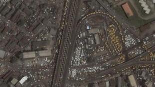 Satellite view of Lagos
