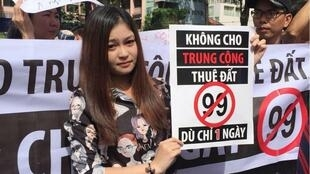 Biểu tình ở Saigon, Việt Nam, ngày 10/06/2018 chống dự luật thành lập các đặc khu Vân Đồn, Bắc Vân Phong, Phú Quốc, bị nghi ngờ để cho Trung Quốc thuê.