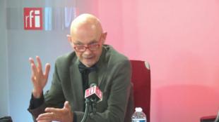 Pascal Lamy sur le plateau de Carrefour de l'Europe du 3 mai 2018.