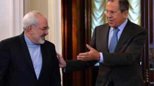 Главы МИД Ирана и России Мохаммад Джавад Зариф и Сергей Лавров, 29 августа 2014 года в Москве