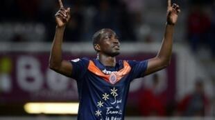 John Utaka marcou os dois golos que deram a vitória ao Montpellier.