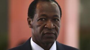 Le président Blaise Compaoré à Kinshasa, en RDC, le 14 octobre 2012.