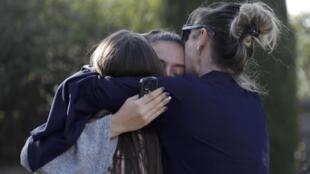 Os alunos do liceu Alexis de Tocqueville, em Grasse, ficaram chocados com o tiroteio ocorrido nesta quinta-feira, 16 de março de 2017.