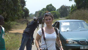 Camille Lepage in Damara in the CAR in February