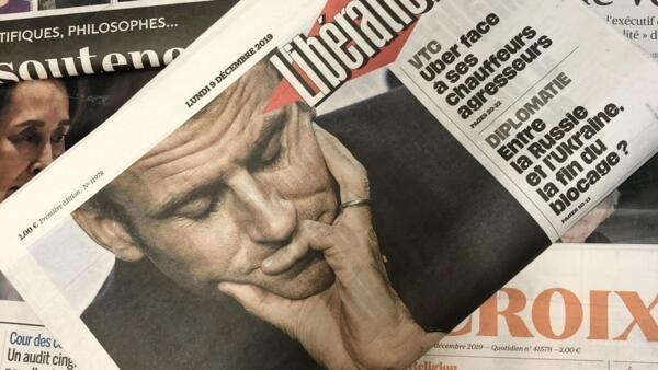 Capas dos jornais franceses de 09/12/19