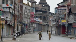 Индийские военные в Кашмире, июль 2016