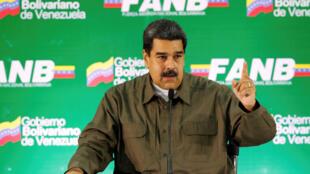 ប្រធានាធិបតី Nicolas Maduro និយាយនៅក្នុងជំនួបជាមួយមេដឹកនាំយោធាការ៉ាកាសនៅថ្ងៃទី ១១សីហា ២០១៨