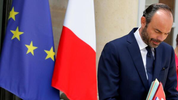 Edouard Philippe à la sortie du Conseil des ministres, le 7 juin 2017.