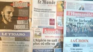 Primeiras páginas dos jornais franceses de 18 de março de 2016
