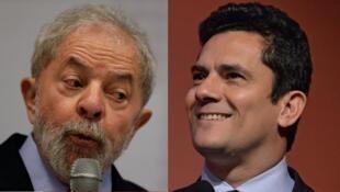 El ex presidente Luiz Inácio Lula da Silva (izq) debe comparecer ante el juez Sérgio Moro (der).