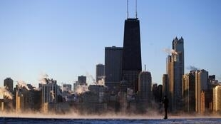 Chicago is now warming after a freezing weather in January