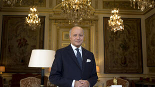 O ex-chanceler francês Laurent Fabius, no Quai d'Orsay, o Ministério das Relações Exteriores.