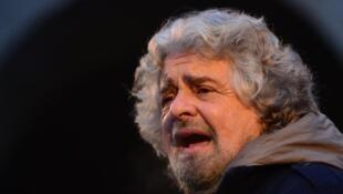 Beppe Grillo, candidat du Mouvement 5 étoiles.