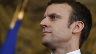 Le ministre de l'Economie Emmanuel Macron,  le 11 mars 2016, à Paris.