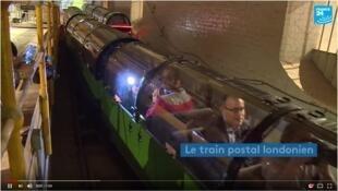 Tầu bưu điện ngầm ở Luân Đôn (Ảnh chụp màn hình France 24).