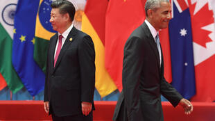 Ảnh minh họa: Chủ tịch Trung Quốc Tập Cận Bình (T) và tổng thống Mỹ Barack Obama tại thượng đỉnh G20 Hàng Châu, Trung Quốc, ngày 04/09/2016