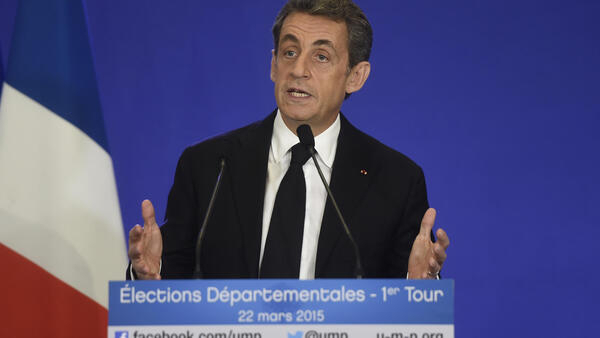 O presidente do partido UMP, Nicolas Sarkozy.