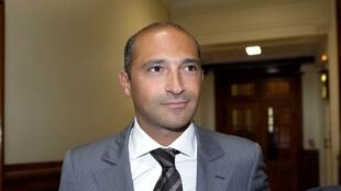 Thomas Fabius, the son of French Foreign minister Laurent Fabius, arriving at the Paris courthouse on June 1, 2011