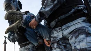 Задержание на несогласованной акции оппозиции 27 июля