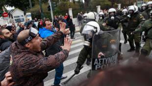 Manifestation à Athènes contre le plan d'austérité, le 10 février 2012.