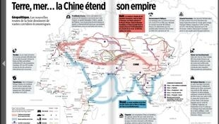 Những hành lang kinh tế trên biển và đất liền của Trung Quốc.