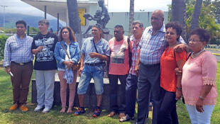 In December 2017, Maryse, Marlène et Valérie (2nd, 3rd and 8th from left) returned to Réunion in search of their biological family