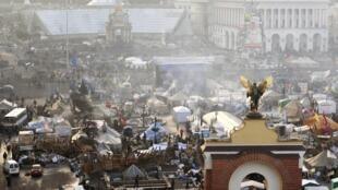Kiev's Maidan on Friday morning