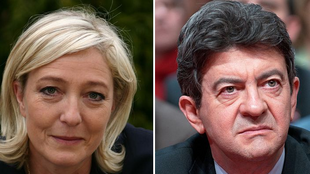 Marine Le Pen and Jean-Luc Mélenchon