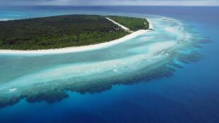 Juan de Nova, l'une des cinq îles Eparses françaises, située dans le canal du Mozambique.
