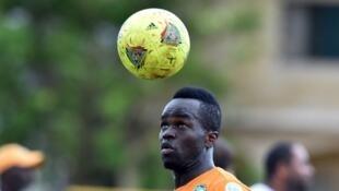 L'international ivoirien Cheick Tioté, ici le 13 octobre 2014 à Abidjan, en marge d'un match de qualification à la CAN 2015 contre la RDC.