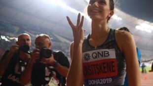 Мария Ласицкене стала первой трехкратной чемпионкой мира в истории прыжков в высоту