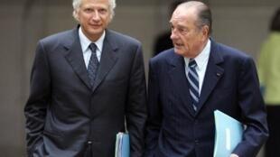 Dominique de Villepin et Jacques Chirac, le 17 janvier 2007.