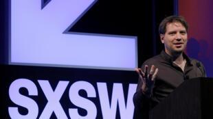 Le cinéaste Gareth Edwards qui a dirigé «Rogue One :  une histoire de Star Wars» lors d'une conférence au festival South by Southwest au Texas, le 13 mars 2017.