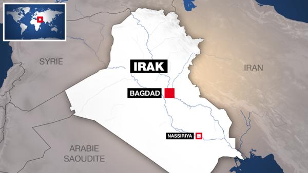 La double attaque menée à Nassiriya a visé un restaurant et un point de contrôle de la sécurité.