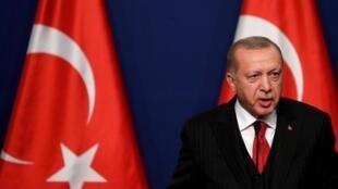 Tổng thống Thổ Nhĩ Kỳ Recep Tayyip Erdogan. Ảnh chụp ngày 7/11/2019.