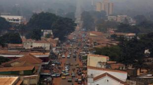 Une vue générale montre une partie de Bangui.