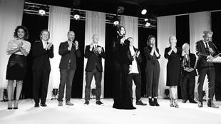 The Dinard Film Festival jury members led by president Monica Bellucci (Centre) and from L to R, Sabrina Ouazani, Alex Lutz, Thierry Lacaze, Ian Hart, Rupert Grint, Kate Dickie, Emmanuelle Bercot