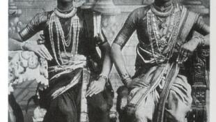 A 1920s photograph of two Devadasis in Tamil Nadu, South India.