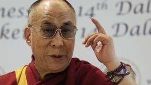 圖為西藏宗教精神領袖達賴喇嘛
