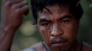 """Paulo Paulino Guajajara, de 26 anos, era líder do grupo de defesa da Amazônia """"Guardiães da Selva""""."""