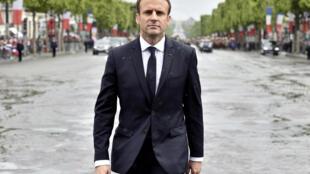 Emmanuel Macron, este 14 de mayo de 2017.